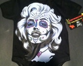 NWT black marlyn manroe with colors day of the dead look