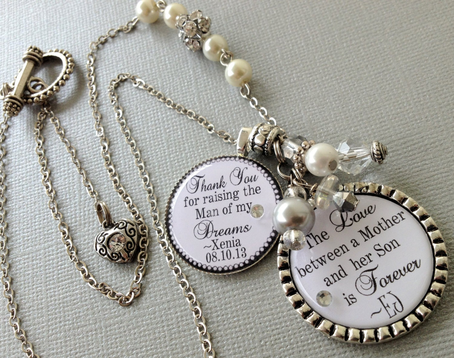 Mother Of The Groom Gift: MOTHER Of The Groom Gift PERSONALIZED Necklace Thank You For
