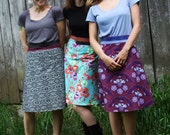 S/M Deep Purple Wrap Skirt, A Line Skirt, Knee Length Skirt, Violet, Cotton Skirt, One Size Fits All, Multi Size, Modest