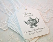 Love is Brewing Teapot Tags Tea Party Tags Set of 10