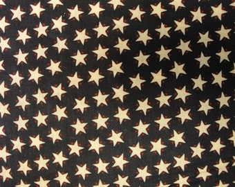 Americana Star Cotton Calico Fabric 1 Yard Destash