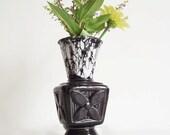 Vintage Savoy China Vase - Black Marble Pottery