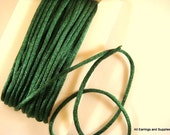 SALE - 25ft Green Satin Cord 2mm Rattail - 25 ft - STR9067CD-DKG25