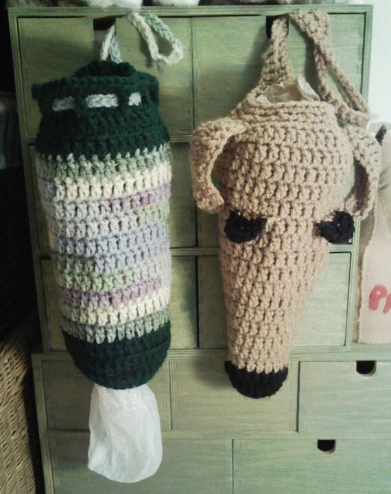 Aerie Design's Greyhound Poop Bag Holder and Plain Dispenser Crochet Pattern PDF Instant Digital Download