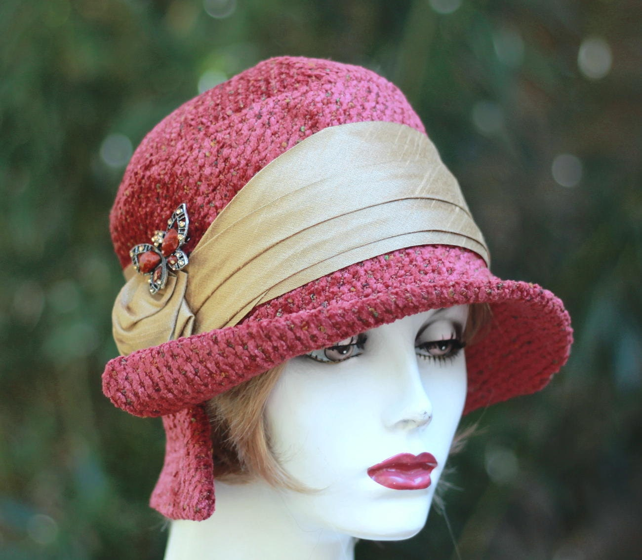 Womens Hat 1920's Cloche Vintage Style Gatsby Fall