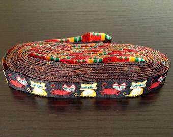 16mm x 1yard (cat) woven ribbon (S710)