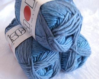 Sapphire blue Soy silk wool yarn,  worsted weight, SWTC Karaoke yarn, Bluezzz 283