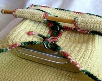 Crocheted Casserole carrier with spoon holder,  PDF crochet pattern, digital download,  cake taker