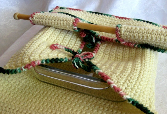 Crocheted Casserole Carrier With Spoon Holder Pdf By