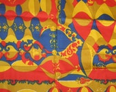 Vintage Cotton Fabric - Art Deco remnant