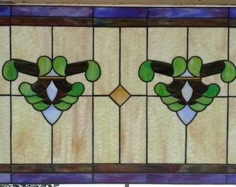 "Stained glass Window - ""Traditional Opals"" (W-59)"