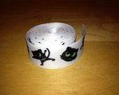Halloween Black Cat 7/8 Inch Grosgrain Ribbon
