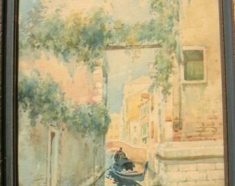 Vintage Neretti Venice Italy painting