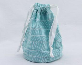 Small Drawstring Bag - Joel Dewberry herringbone