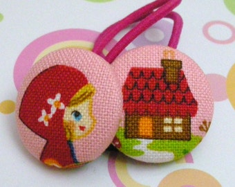 Little Red Riding Hood and Grandmother's House-------2 ponytail holders