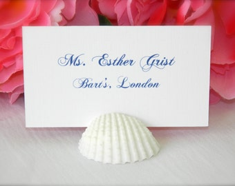 Beach Wedding + White Shell Place Card Holders (Set of 100) On Sale