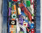 Textile art wallhanging by Lisa mixed media art piece