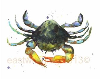 CRAB Watercolor PRINT