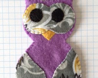 purple owl felty