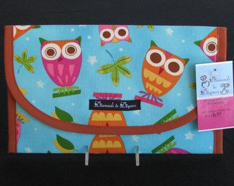 Owls on a Whim Diaper and Wipe Case Holder Clutch
