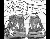 REACT x Converse Reacts- Pen and Ink Graffiti Drawing