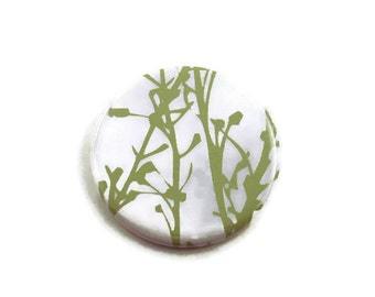 Pocket Mirror Purse Cosmetic Makeup Mirror in Green Grass (PM86)