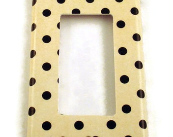 Rocker Switch Plate in Polka   (171R)