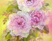 Reserved for Shelly Long.... Chic Shabby Rose Oil Painting by Diana