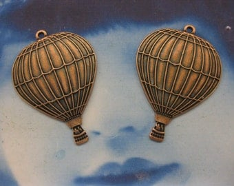 Hot Air Copper Ox Plated Balloon Charms 560COP x2