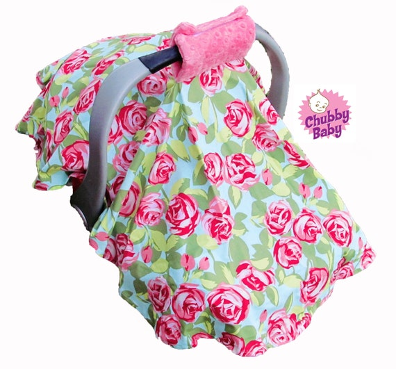 Canopy Tent Cover For Your Infant Car Seat With Padded Handle