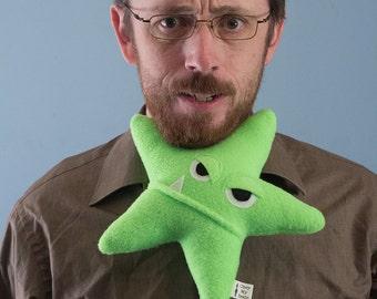 Small Starfish Fleece Plush - Neon Green