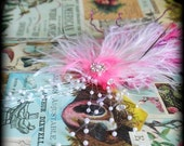 faerie tribal hair fascinator - blushing plume