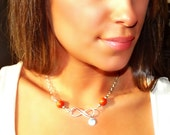 Made with Your Flower Petals, Memorial Jewelry, Personalized Jewelry, Double Infinity Necklace
