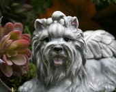 Yorkie Angel Memorial Statue, Yorkshire Terrier, Silky Terrier Dog Angel