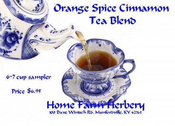 Orange Spice Cinnamon Tea Blend an Epicurean delight