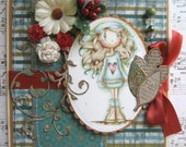 OOAK Fall Love image by Jo Davis Hand Made Greeting Card