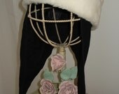 Vintage White Pill Box Style with Tie Scarf Hat