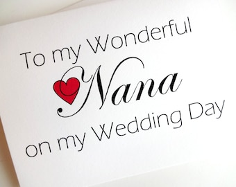 Wedding Thank You for Nana Card