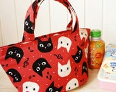 Japanese Style Handmade Insulated Lunch Tote - Free Shipping