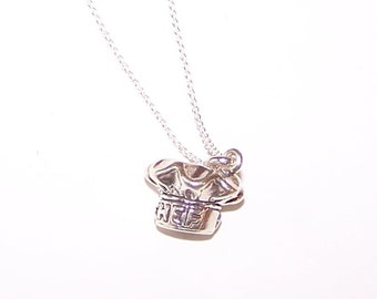Sterling 3D CHEF'S HAT Pendant AND 20 Inch Chain - Cooking, Cook, Restaurant, Profession
