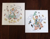 RESERVED for PATRICIA  Fairy Tale tiles. 1950s mid century German wall hangings.
