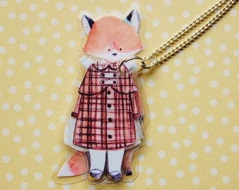 OLiVe FoX - LaMiNaTeD PaPeR NeCkLaCe #1