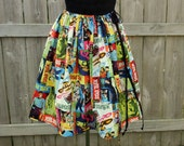 Star Trek Womens Geekery Knee Length Colorful Skirt