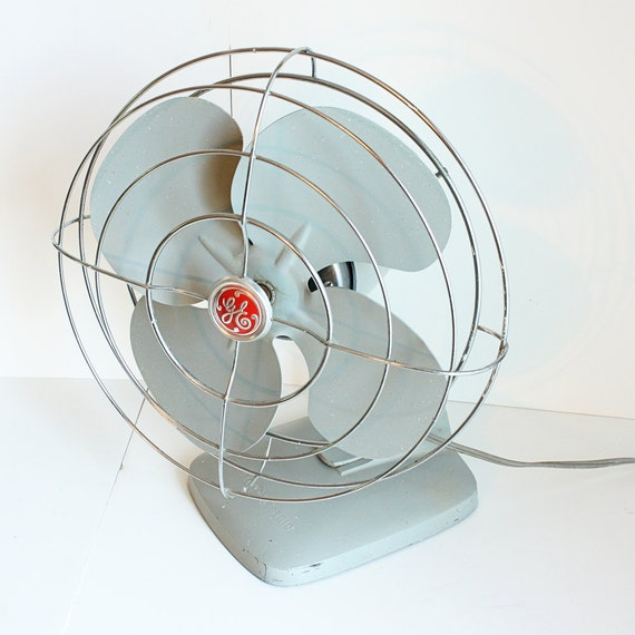 Vintage Electric Fan Ge Oscillating Metal By Oldcottonwood