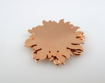 """Sale - Copper Stamping Blank Sun Personalized Jewelry 1 1/4"""" Round 24 Gauge Qty. 6"""