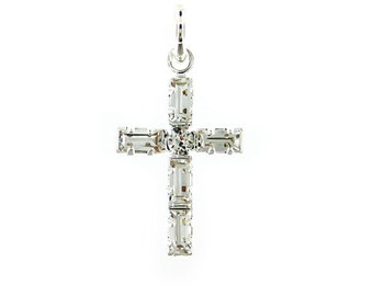 Add a Swarovski Crystal Cross Charm (AO052)