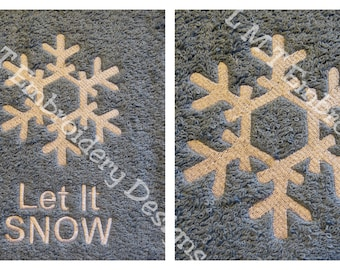 SnowFlake2 and Let It SNOW Embroidery Design - 2 Designs....