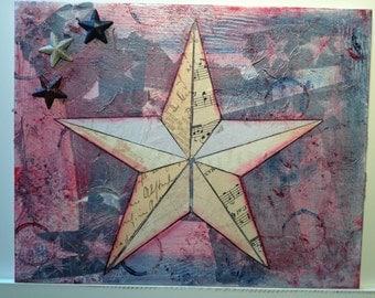 Patriotic Star Collage White 1
