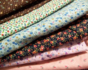 large lot of calico fabric