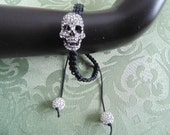DayoftheDead knotted Bracelet/ Bling Skull